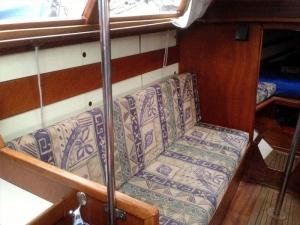 Zeilboot waarschip Koene Groene Kajuit bakboord