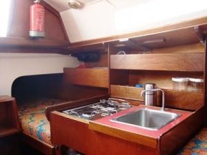 Zeilboot huren keuken waarschip Echt Waar